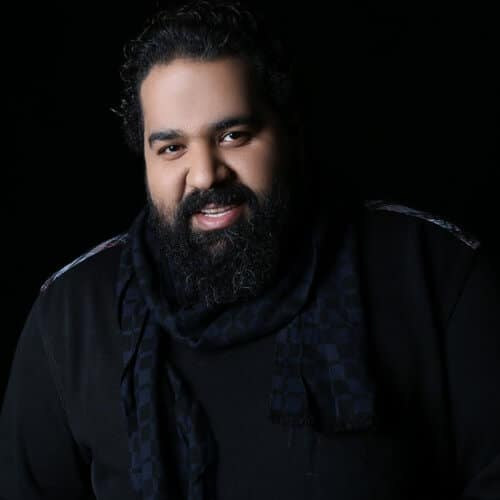 ضبط موزیک ویدیوی من دوست دارم رضا صادقی در استودیو کروماکی فردا