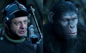 اندی سرکیس در نقش سزار در فیلم قیام سیاره میمونها